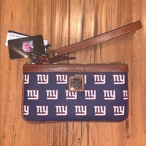 NEW NWT Downey & Bourke New York Giants Wristlet